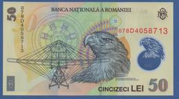 ROMANIA - P.120c – 50 LEI 2005 (2007) UNC Serie 078D4058713 - Romania