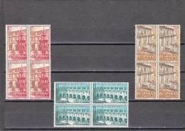 España Nº 1322 Al 1324 En Bloque De Cuatro - 1951-60 Neufs