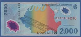 """ROMANIA - P.111a – 2.000 LEI 1999 UNC Serie 009A0484216 """"Solar Eclipse"""" Commemorative Issue - Romania"""