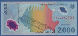 """ROMANIA - P.111a – 2.000 LEI 1999 UNC Serie 005C0372334 """"Solar Eclipse"""" Commemorative Issue - Romania"""