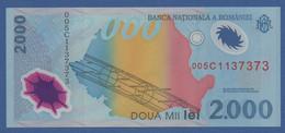 """ROMANIA - P.111a – 2.000 LEI 1999 UNC Serie 005C1137373 """"Solar Eclipse"""" Commemorative Issue - Romania"""