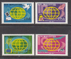 1988 Maldives Transportation & Communication Automobiles Aviation Complete Set Of 4  MNH - Maldiven (1965-...)