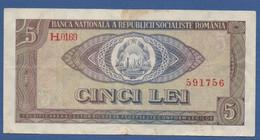 ROMANIA -Banca Naţională A Republicii Socialiste România - P.93 – 5 Lei1966 Circulated Serie H.0169 591756 - Romania