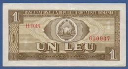 ROMANIA -Banca Naţională A Republicii Socialiste România - P.91 – 1 Leu1966 Circulated Serie H.0014 610937 - Romania