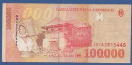 ROMANIA - P.110 – 100.000 LEI 1998 Circulated / Serie 002A3515448 - Romania
