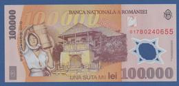 ROMANIA - P.114 – 100.000 LEI 2001 (2001) UNC Serie 017B0240655 - Romania