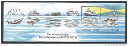 Danemark 2002 Bloc 21 Neuf Centenaire Du CIEM Exploration En Mer Avec Bateaux Et Poissons - Blocks & Kleinbögen