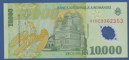 ROMANIA - P.112b – 10.000 LEI 2000 (2001) UNC Serie 015C3362353 - Romania