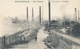 AT 752  A   C P A - DECAZEVILLE   (12)  LES  USINES  VUE PRISE DE BOURRAN - Decazeville