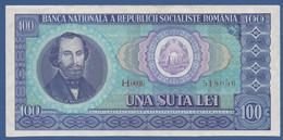 ROMANIA -Banca Naţională A Republicii Socialiste România - P.97 – 100 Lei1966 AUNC-  Serie H.0036 518056 - Romania