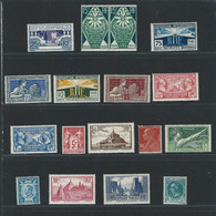1924/1930 17 Timbres Neufs Sans Charnières Dont N° 216 Et 261 - Ongebruikt