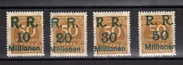 Allemagne : République Rhénane : Surcharge RR 10-20-30-50 : Sur 50 Jaune Bistre No Yvert 292 - Ungebraucht