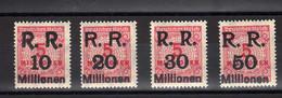 Allemagne : République Rhénane : Surcharge RR 10-20-30-50 : Sur 5 Rose No Yvert 298 - Ungebraucht