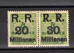 Allemagne : République Rhénane : Surcharge RR 20-30 : Sur 4 Vert Jaune No Yvert 297 - Ungebraucht