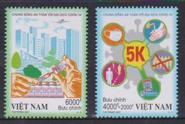 VIETNAM, 2021, MNH, COVID, 2v - Other