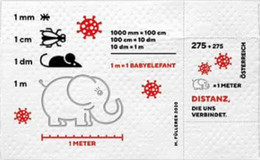 AUSTRIA, 2020, MNH, HEALTH, CORONA VIRUS, COVID-19, ELEPHANTS, INSECTS, MICE, S/SHEET PRINTED ON TOILET PAPER(!!) - Other