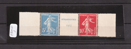FRANCIA - 1927 ESPOSIZIONE FILATELICA DI STRASBURGO - TRITTICO MNH + CERT. - Ongebruikt