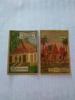 Cambodge.cromos(3) No Postcard..eucalol Soap Facts.map.house.angkor Temple Better Condition - Cambodia