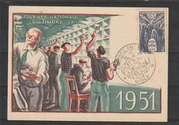 CARTE POSTALE JOURNEE DU TIMBRE 1951 - Briefe U. Dokumente