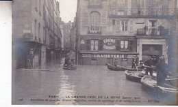 75-PARIS INONDATION DES QUAIS DES GRANDS AUGUSTINS - Überschwemmung 1910