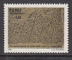 1988 Peru Chan Chan Ruins Archaeology Complete Set Of 1 MNH - Peru