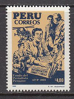 1988 Peru Journalists Fund Journalism Helicopters Complete Set Of 1 MNH - Peru