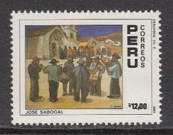 1988 Peru Art Paintings Music  Complete Set Of 1 MNH - Peru