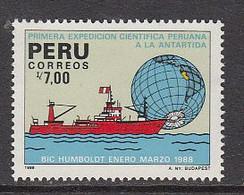 1988 Peru Antarctic Expedition Antarctica Ships  Complete Set Of 1 MNH - Peru