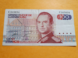 LUXEMBOURG 100 FRANCS 14 AOUT 1980 SERIE C 2EME SIGNATURE P-57b - Luxembourg