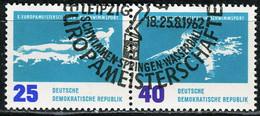 A07-17-4) DDR - Mi 910/911 = WZd 49 □□ ⨀ - 25/40Pf  Schwimm-EM - Gebraucht