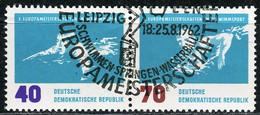 A07-17-4) DDR - Mi 911/912 = WZd 51 □□ ⨀ - 40/70Pf  Schwimm-EM - Gebraucht