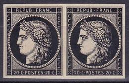 France (2 X Ceres) N° 3 De SPIRO Avec Gomme ! Année 1849 (MNH **) - 1849-1850 Ceres