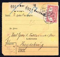 Deutsches Reich - Paketkarte - 1916 - Briefe U. Dokumente