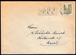 Switzerland / Landscapes, Staubbach Waterfall, 3c / + PP, Port Paye, Postage Paid, Machine Stamp - Lettres & Documents