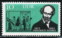 A07-17-5) DDR - Mi 953 ✶✶ - 10Pf    Friedrich Hebbel - Ungebraucht