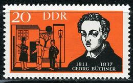 A07-17-6) DDR - Mi 954 ✶✶ - 20Pf    Georg Büchner - Ungebraucht