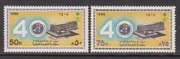 1988 Saudi Arabia WHO Health  Complete Set Of 2 MNH - Arabia Saudita