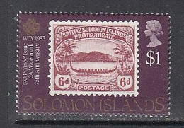 1983 Solomon Islands WCY Communications Year Stamps On Stamps   MNH - Solomoneilanden (1978-...)