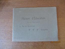 VERSAILLES MAISON D'EDUCATION DIRIGEE PAR MADAME CHARLOT 42 42 RUE DES BOURDONNAIS  8 PAGES ET 2 CARTES POSTALES - Ile-de-France