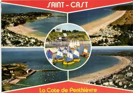 SAINT CAST LE GUILDO - LA GRANDE PLAGE - LA PLAGE DE PEN GUEN - L'ECOLE DE VOILE ET LE PORT EN EAU PROFONDE - Saint-Cast-le-Guildo