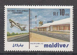 1988 Maldives Development Airport Aviation MNH - Maldiven (1965-...)