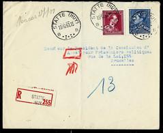 Env. (entière)  Obl. STATTE  ( HUY ) - B B - Du 15/10/51 En Rec. - 1936-1951 Poortman