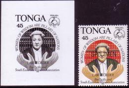 Tonga 1994 - Proof + Specimen - Barrister - Law Book - Wig - Tonga (1970-...)