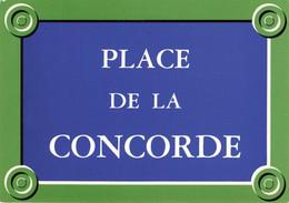PLAQUE DE RUE DE PARIS - PLACE DE LA CONCORDE - Ohne Zuordnung