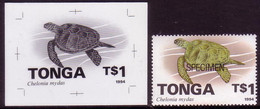 Tonga 1994 - $1.00 Turtle - Proof + Specimen - Tonga (1970-...)