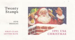 USA 1991 MiNr. 2195 - 2199  Christmas 5v X 4  First-Class Mail Rate Booklet MNH**     24.40 € - Ungebraucht