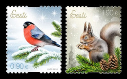 Estonia 2021 Mih. 1024/25 Christmas. Fauna. Eurasian Bullfinch And Squirrel MNH ** - Estland