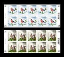 Estonia 2021 Mih. 1024/25 Christmas. Fauna. Eurasian Bullfinch And Squirrel (2 M/S) MNH ** - Estland