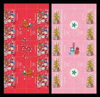 Aland 2021 Mih. 511/12 Christmas (gutter Strips) MNH ** - Ålandinseln