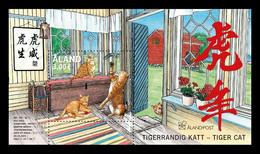 Aland 2021 Mih. 513/14 (Bl.22) Lunar New Year. Year Of The Tiger. Fauna. Cats MNH ** - Ålandinseln